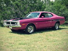 Demon Duster,..baby... probably a 340...  come on, REALLY....PINK!!!!!!!  At least Brown or orange!!!