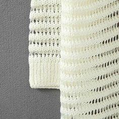 ニットカーディガン☆ 透かし編み七分袖ニット★ オープンフロントでカジュアル感を演出♥長めのレングスでお尻が隠れる♪ : 服&ファッション小物通販 | Amazon.co.jp