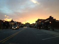 Lincolnton NC at sunset