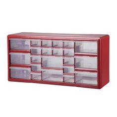 Stack-On 22 Red Drawer Storage Cabinet