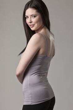 Bamboo Ladies Cami in light Grey is both luxurious and sustainable - the perfect under shirt.
