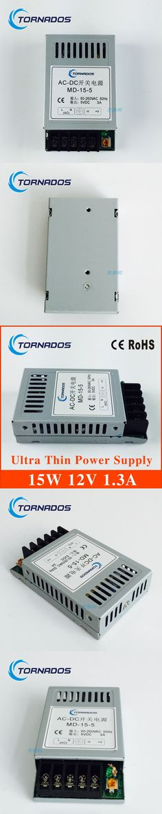 15W 12V 1.3A Ultra thin Single Output Switching power supply for LED Strip light AC TO DC MD-15-12