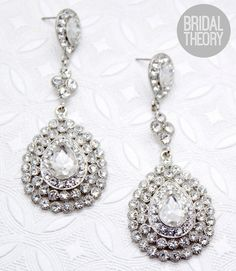 Crystal Statement Bridal Earrings