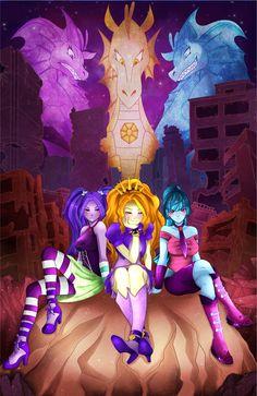 #1149173 - adagio dazzle, aria blaze, artist:enyoiyourself, equestria girls, safe, siren, sonata dusk, the dazzlings - Derpibooru - My Little Pony: Friendship is Magic Imageboard