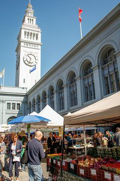 San Francisco Ferry Plaza farmers market and some delicious produce and artisanal foods.