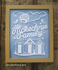 Paper cut for a family (commission idea)