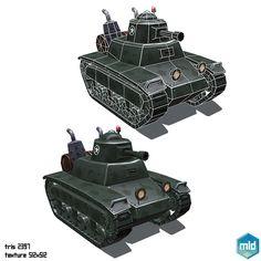 Low Poly Cartoon Tanks on Behance