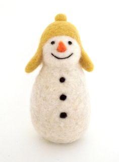 felt Snowman-this makes me happy