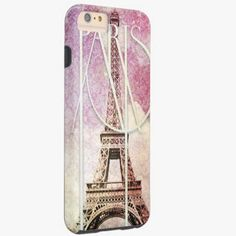 Awesome iPhone 6 Case! Girly pink, purple damask Eiffel Tower, Paris Tough iPhone 6 Plus Case. It's a completely customizable gift for you or your friends.