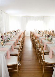 peach and gold wedding ideas | elegant indoor wedding | all white wedding tent | #weddingchicks