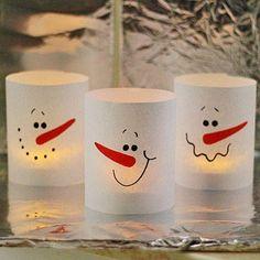 3 Minute Schneemann-Teelicht!!!!!!