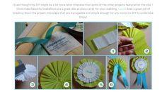 可愛くておしゃれな手作りロゼットの作り方   結婚式 DIY&ハンドメイド作り方