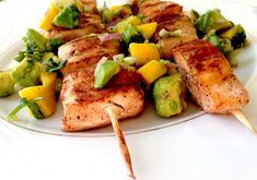 Grilled Cajun Lime Mahi Mahi Kebabs Recipe for the George Foreman Grill - My Healthy Dish