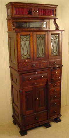 American Cabinet Co. Oak Dental Cabinet #55- I would love one of these for all my beading stuff.