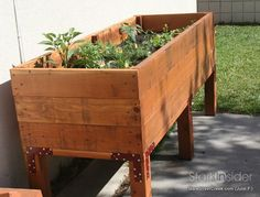 looking for good planter box designs, and like this deep style