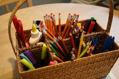 Homework caddy - Echoes of Laughter: Back To School Organizing Part Sorting Out School Supplies & Study Spaces. Homework Caddy, Kids Homework Station, Homework Center, Homework Organization, School Supplies Organization, Organisation Hacks, Storage Organization, Craft Supplies, Organizing Ideas