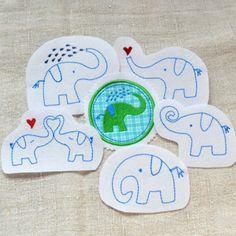 Rüsselparade (Set 3). Fröhliche Elefanten für die Stickmaschine von www.mikronaut.de