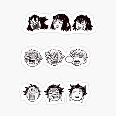 'Kimetsu no yaiba Multi stickers' Glossy Sticker by Anime Stickers, Kawaii Stickers, Cute Stickers, Alien Sightings, Decorate Notebook, Demon Slayer, Printable Stickers, Manga, Sticker Design