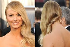 The side swept hairstyle with a twist by Stacy Keibler