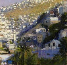Andrew Gifford - Mosque in the Silwan Valley, Study 1