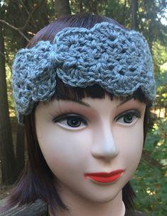 Teen/Women's Gray Crochet Headband/Ear by ThatsKnotLove on Etsy