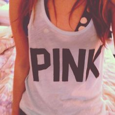 Maybe with a cute lululemon bra or something else would look great with this VS Pink Tank