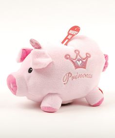 Little princesses can keep their treasure safe with this soft plush piggy bank. It makes an adorable sound every time a coin is deposited!