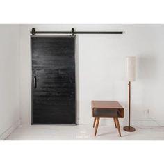 JELD-WEN 42 in. x 84 in. Rustic Unfinished Wood Barn Door with ...