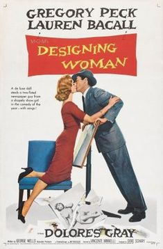 DESIGNING WOMAN is a Cinema Hidden Gem about Fashion Designer(Lauren BaCall) weds Sports Writer(Gregory Peck). A romantic comedy in tradition of Spencer Tracey and Katherine Hepburn. Old Movies, Vintage Movies, Great Movies, Woman Movie, Movie Stars, Movie Tv, Movie Props, Movie List, Lauren Bacall