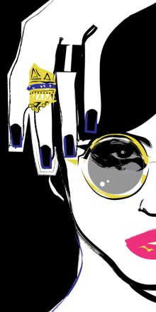Archive of fashion & editorial illustration, graphic, newspaper, and book design. Society for News Design Award recipient. Art And Illustration, Illustrations, Art Pop, Comic Kunst, Comic Art, Bling Nails, Vintage Comics, Art Plastique, Art Girl