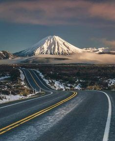 New Zealand. Mt Taranaki New Zealand Photo by Beautiful Roads, Beautiful Landscapes, Beautiful Places, Wonderful Places, Natur Wallpaper, Places To Travel, Places To Visit, Travel Destinations, Monte Fuji