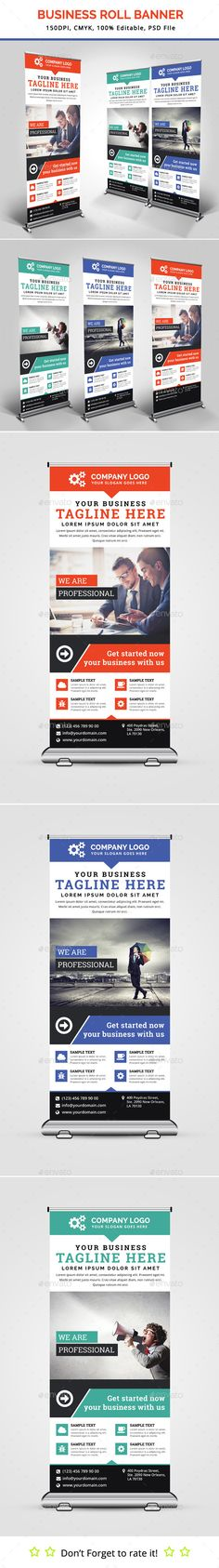 Business Roll Up Banner Template #design Download: http://graphicriver.net/item/business-roll-up-banner-v18/13201955?ref=ksioks