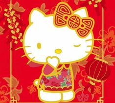 Hello Kitty / Happy Lunar New Year Happy Lunar New Year, Happy Chinese New Year, Kitty Cam, Hello Kitty Themes, Hello Kitty Wallpaper, Sanrio Characters, Little Twin Stars, Little Gifts, Neko