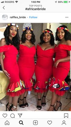 Vol Wanna Be Chicy? Try This Top 50 AsoEbiBella & EB Fabulous Look Style- You can examine all tattoo models and print them out. African Bridesmaid Dresses, African Wedding Attire, Latest African Fashion Dresses, African Dresses For Women, African Attire, Xhosa Attire, African Weddings, Bridesmaid Outfit, South African Traditional Dresses