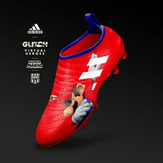 Spectacular adidas Glitch Virtual Heroes Super Mario Cool Football Boots, Soccer Boots, Football Shoes, Football Cleats, Best Soccer Shoes, Soccer Drawing, Adidas Cleats, Soccer Pictures, Football Fashion