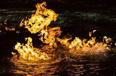 El agua no tienden a ser inflamables:Un río lleno de metano