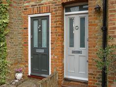 Love this blue/grey! From London Door Company via Mrs Peabod | Door ...