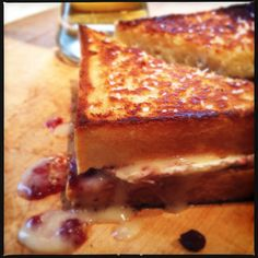 Grilled Cheese with Goat Cheese and Jam