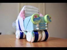 Babyzauber - Bastelanleitung für ein Windelauto - YouTube