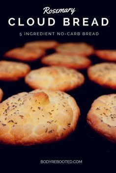Cloud bread is trending! Pins increased 73% in one month for this bread replacement that contains no flour. It's grain-free, high in protein, and low in carbs. Yum!  5 Ingredient, No-Carb, Rosemary Cloud Bread - I've died and gone to heaven!