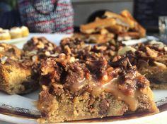 Carrés chocolat, pâte à biscuit, bacon et bière