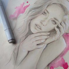 810 отметок «Нравится», 27 комментариев — Jorge Monreal (@jorge.monreal) в Instagram: «@emblu #drawing #art #pencil #copic #marker #markers #copicmarkers #watercolor #face #woman #emblu…»