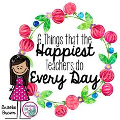 6 great ideas to follow to stay happy!