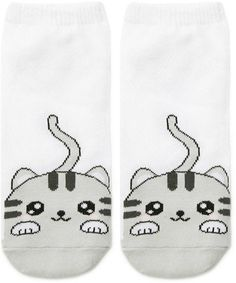 Forever 21 is the authority on fashion & the go-to retailer for the latest trends, styles & the hottest deals. Baby Girl Socks, Girls Socks, Tennis Socks, Short Socks, Cotton Socks, Ankle Socks, Easy Drawings, Cute Cats, Forever 21