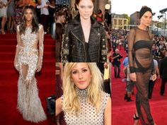 2013 VMA Red Carpet favorites- Ciara, Coco Rocha, Ellie Goulding and Erin Wasson on the black and white trend.