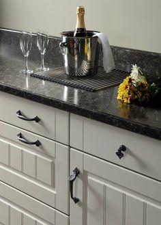 Polished Finish Carella Laminate worktop with matching upstand