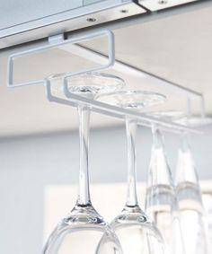 Another great find on #zulily! White Small Tower Under Cabinet Wineglass Rack #zulilyfinds