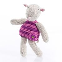 Pebble Rattles - mouse - pink