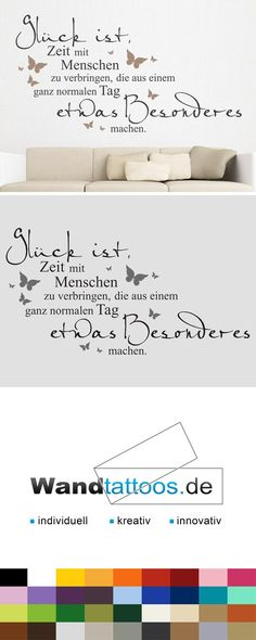 Wandtattoo Glück ist Zeit mit Menschen zu Wall Decal Happiness is spending time with people as an idea for custom wall design. Simply select your favorite color and size. More creative suggestions from Wandtattoos.de discover here! Words Quotes, Life Quotes, Sayings, Custom Wall, Invitation Design, Wall Design, Are You Happy, Hand Lettering, Wall Decals