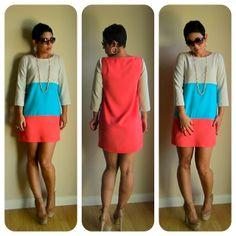 mimi g.: DIY Dress: Colorblocking Love!